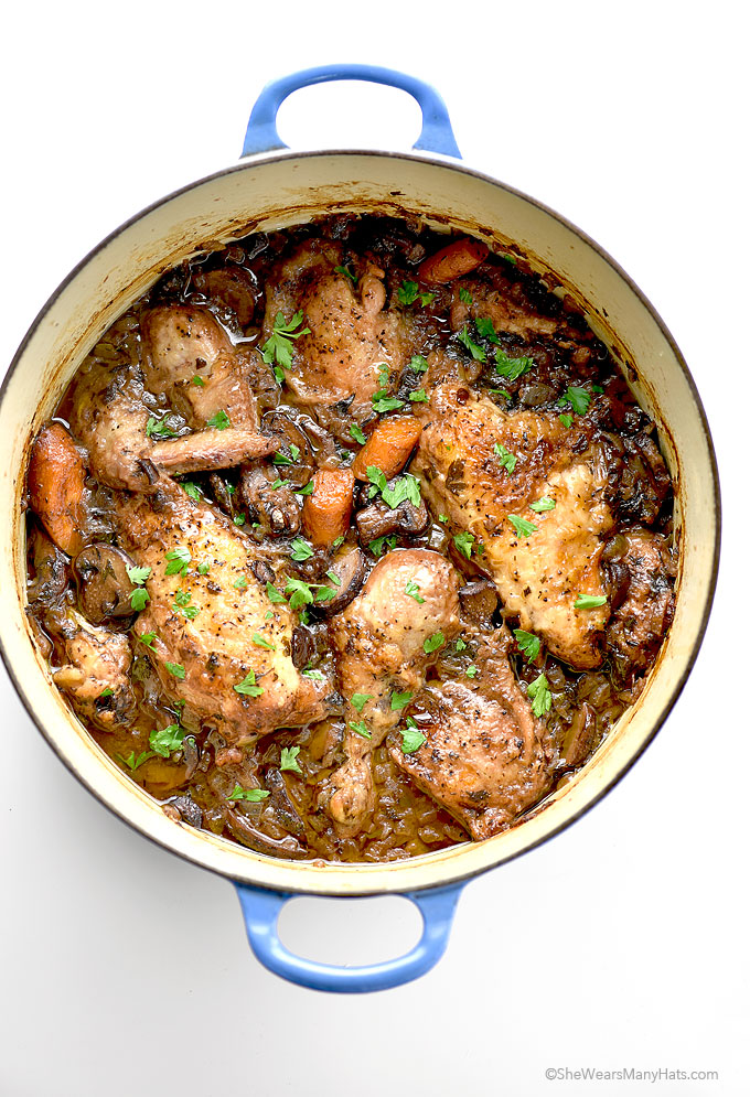 Delicious and Easy Coq au Vin Recipe | shewearsmanyhats.com