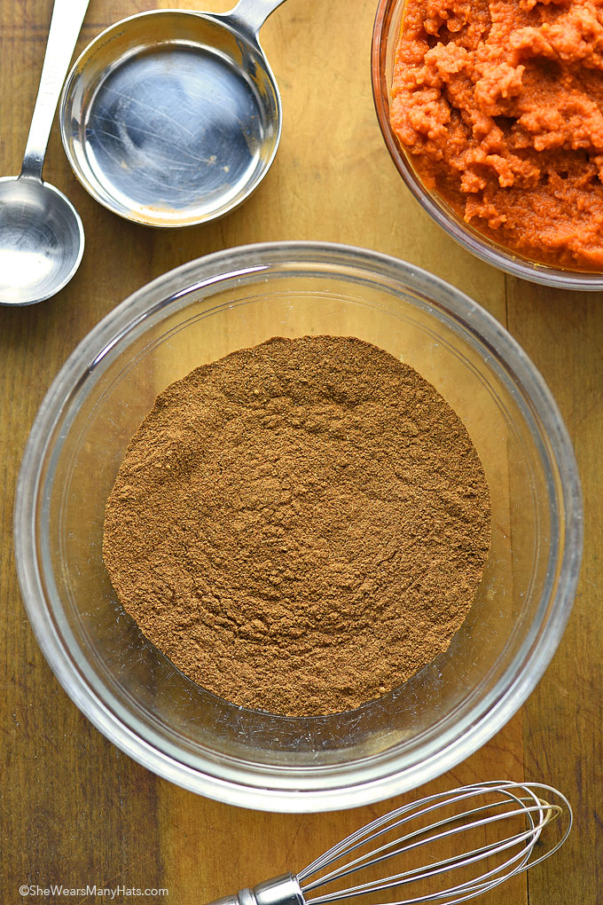 Homemade Pumpkin Pie Spice Make this Pumpkin Pie Spice Recipe in no time at all to use in all of your favorite pumpkin recipes. | shewearsmanyhats.com #pumpkin #pumpkinspice #recipe