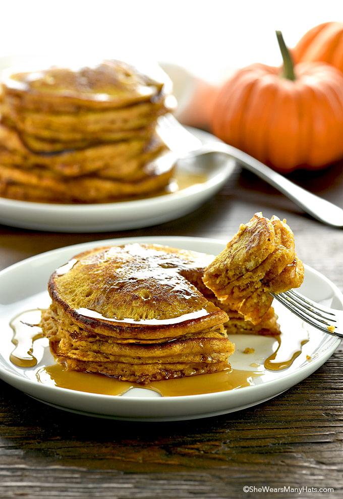 Pumpkin Pancakes Recipe   She Wears Many Hats