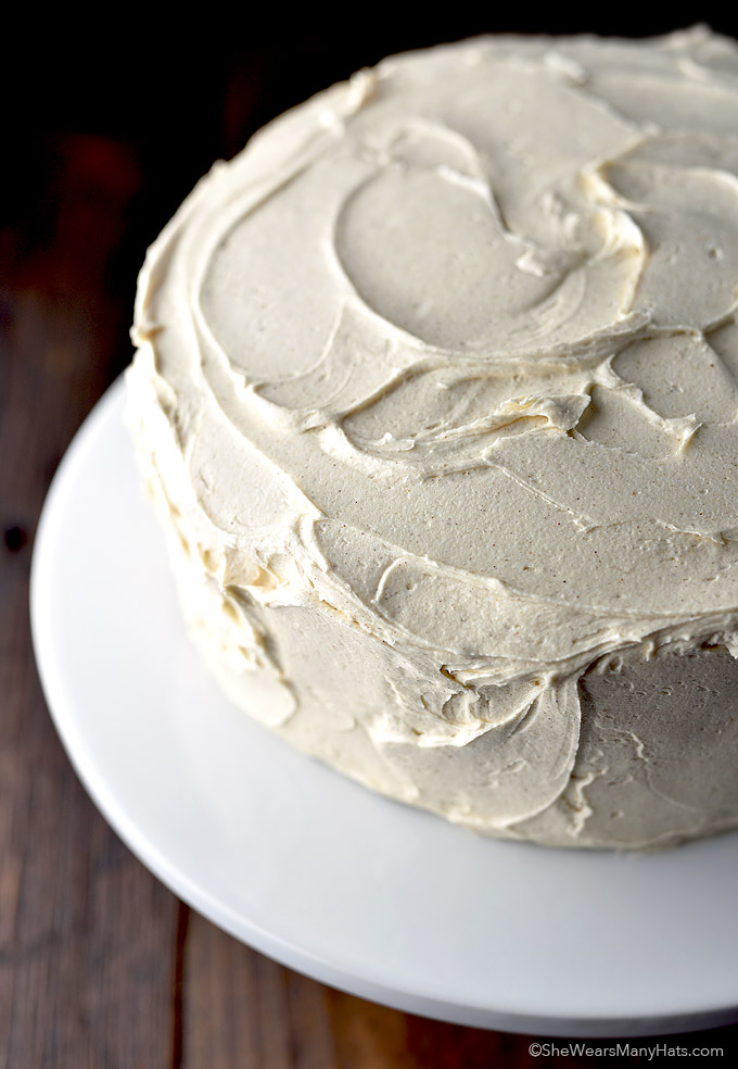 Cake with Cinnamon Honey Buttercream Frosting from shewearsmanyhats ...