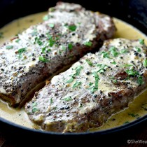 Steak au Poivre Recipe | shewearsmanyhats.com