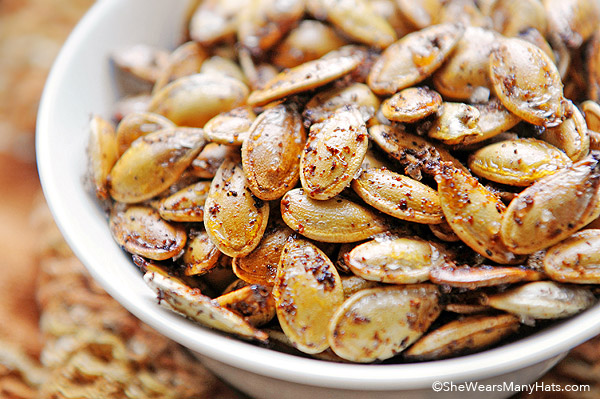 Spicy Toasted Pumpkin Seeds Halloween Appetizers That Are Dreadfully Inviting | Homemade Recipes
