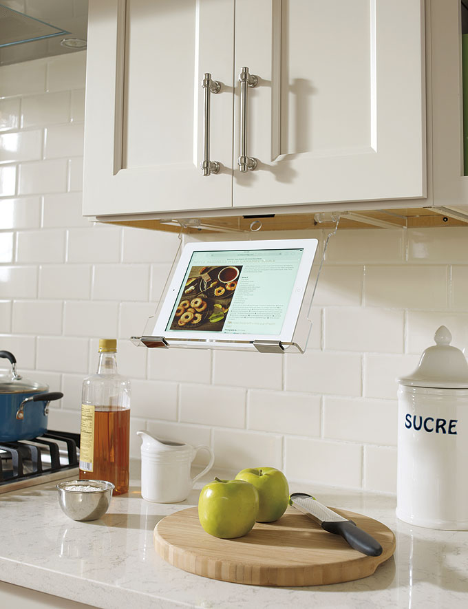 Kitchen Tablet Holder Customized Kitchen Cabinets from MasterBrand