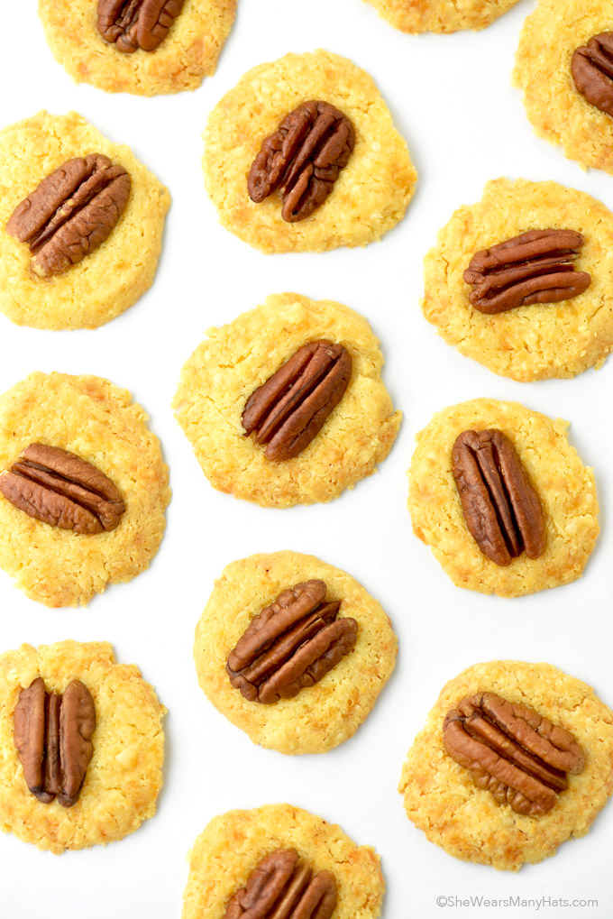 Homemade Cheese Crackers with Pecans Recipe - She Wears Many Hats