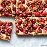 Nutty Oatmeal Cranberry Bars Recipe
