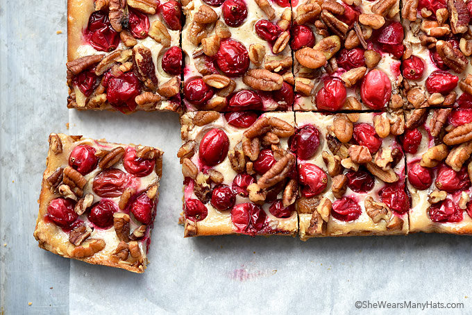 These Nutty Oatmeal Cranberry Bars are made with fresh cranberries, oatmeal and pecans for an easy sweet little bite or main dessert for any holiday occasion.