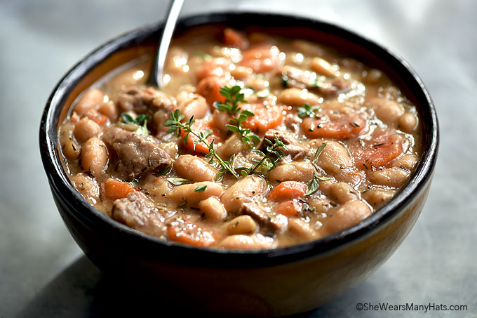 Beef And Bean Soup Recipe She Wears Many Hats