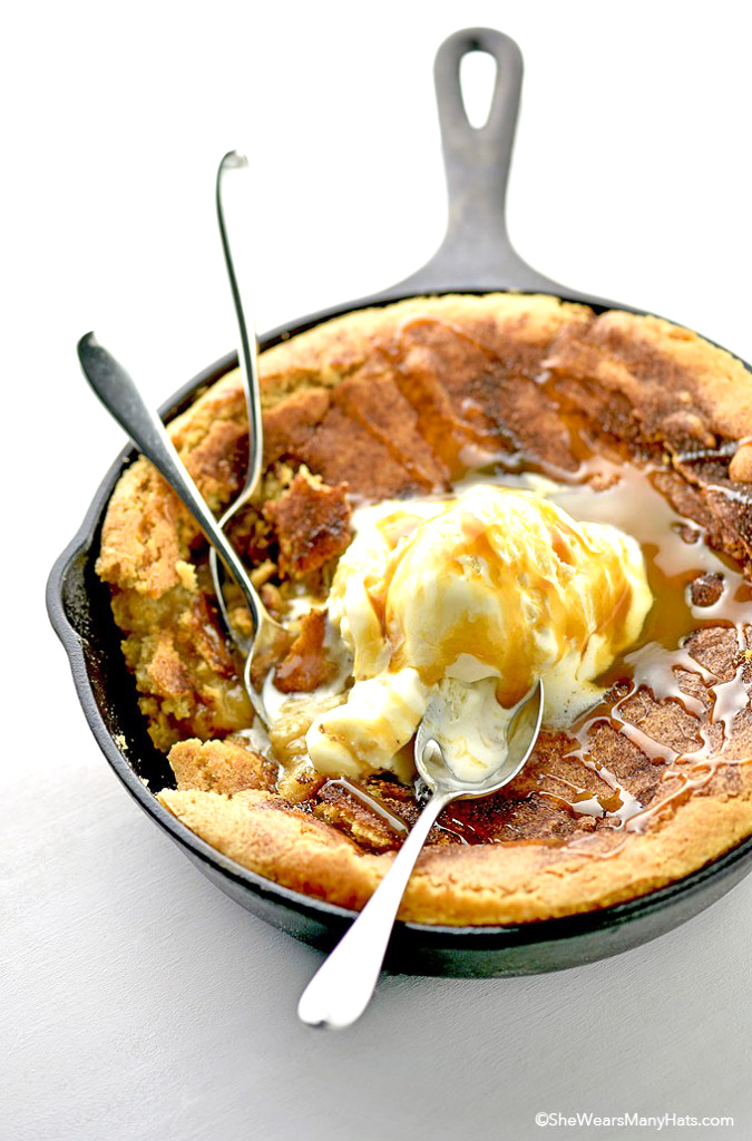 Snickerdoodle Skillet Cookie Cake Recipe She Wears Many Hats