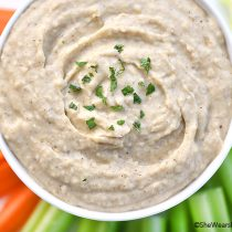 Sage and White Bean Dip Recipe | shewearsmanyhats.com