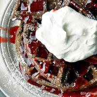 Chocolate Whole Wheat Waffles Recipe