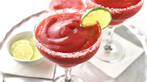 Easy Frozen Strawberry Margarita Recipe She Wears Many Hats
