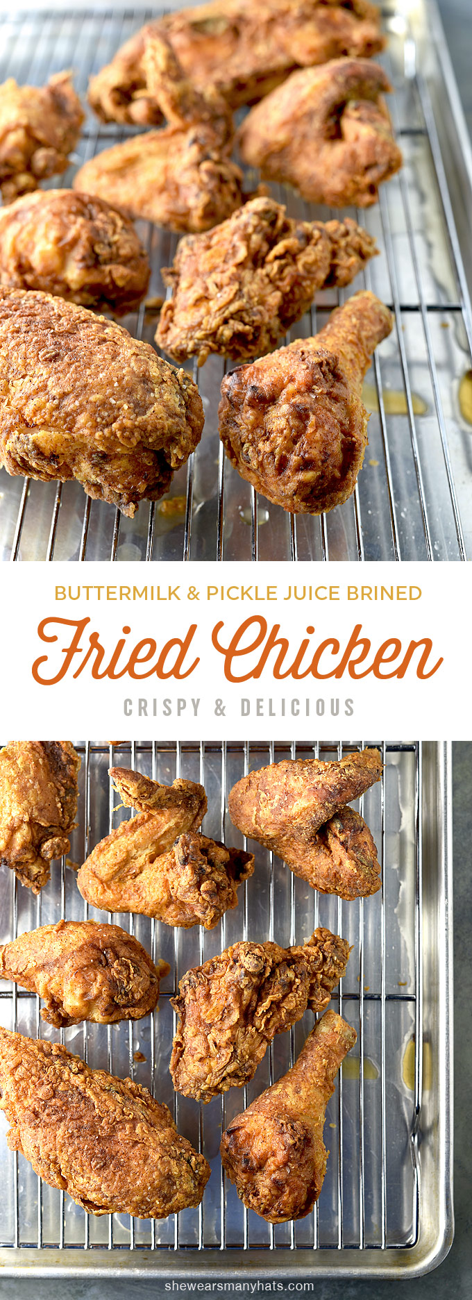 Perfect Fried Chicken Recipe | shewearsmanyhats.com