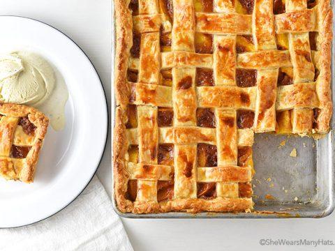 Peach Slab Pie Recipe She Wears Many Hats