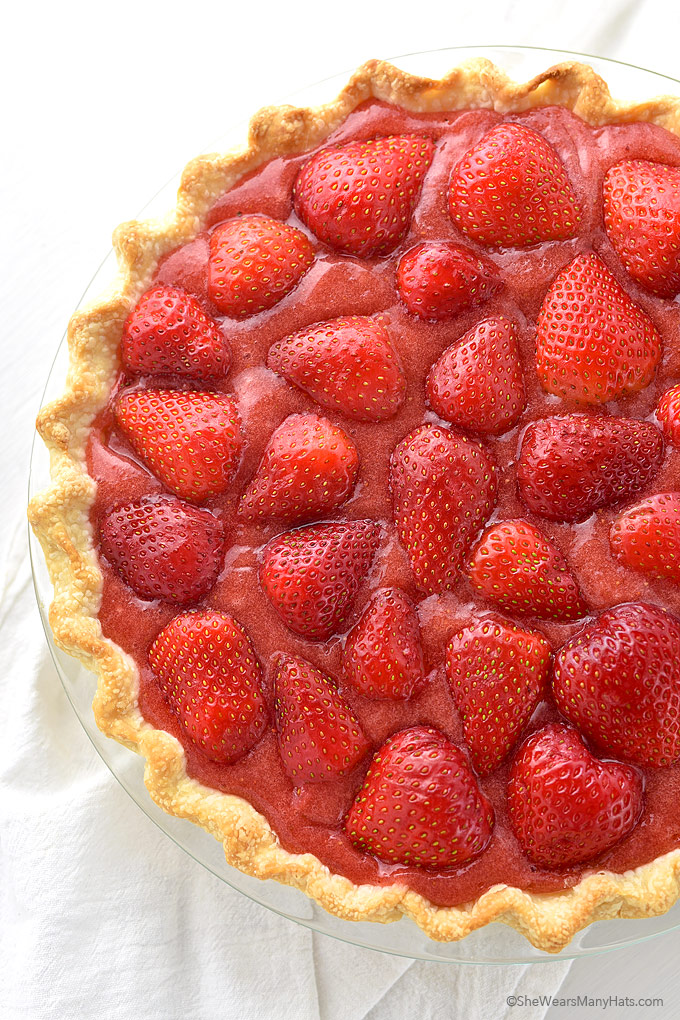 Fresh Strawberry Pie recipe, sweetened with honey, that makes a sweet ...