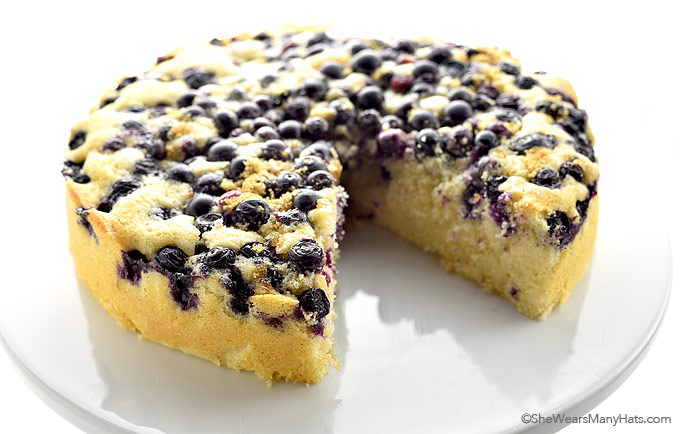 Lemon Blueberry Buttermilk Cake Recipe | shewearsmanyhats.com