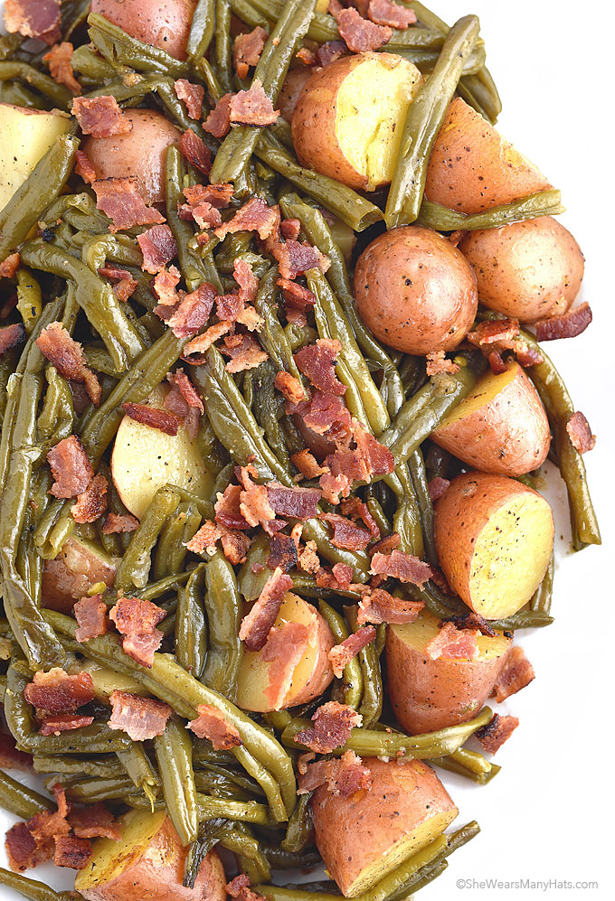 Recipes for green beans with potatoes and bacon