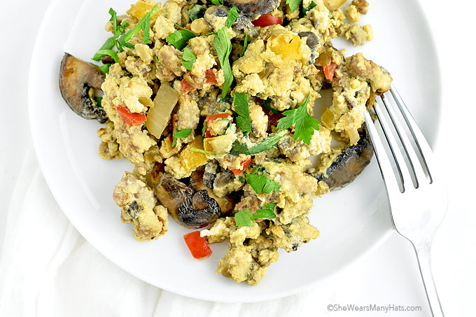 Loaded Scrambled Eggs Recipe | shewearsmanyhats.com