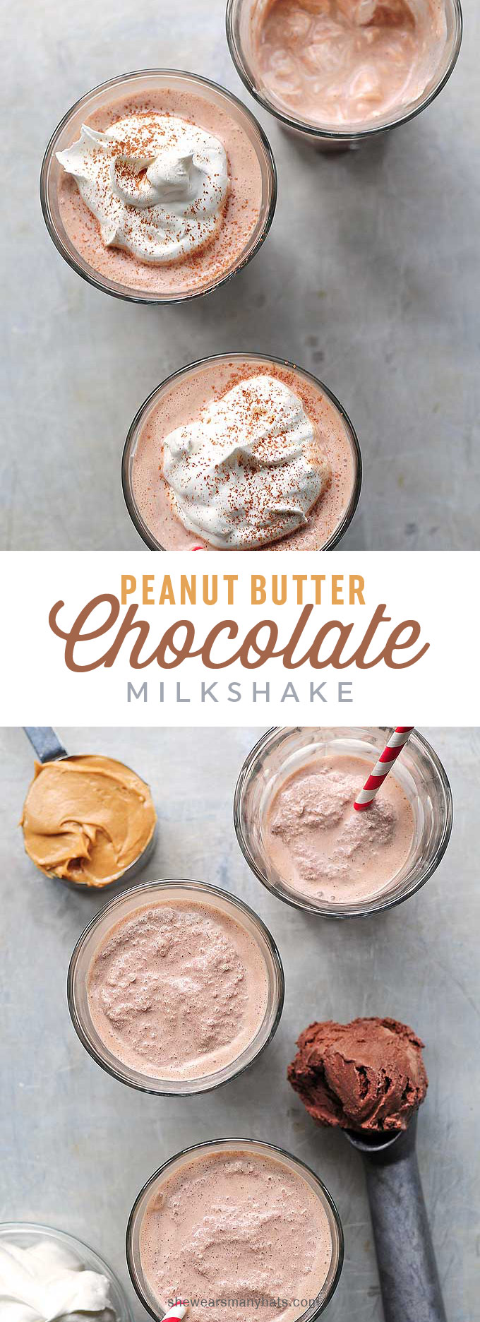 Peanut Butter Chocolate Milkshake Recipe   She Wears Many Hats