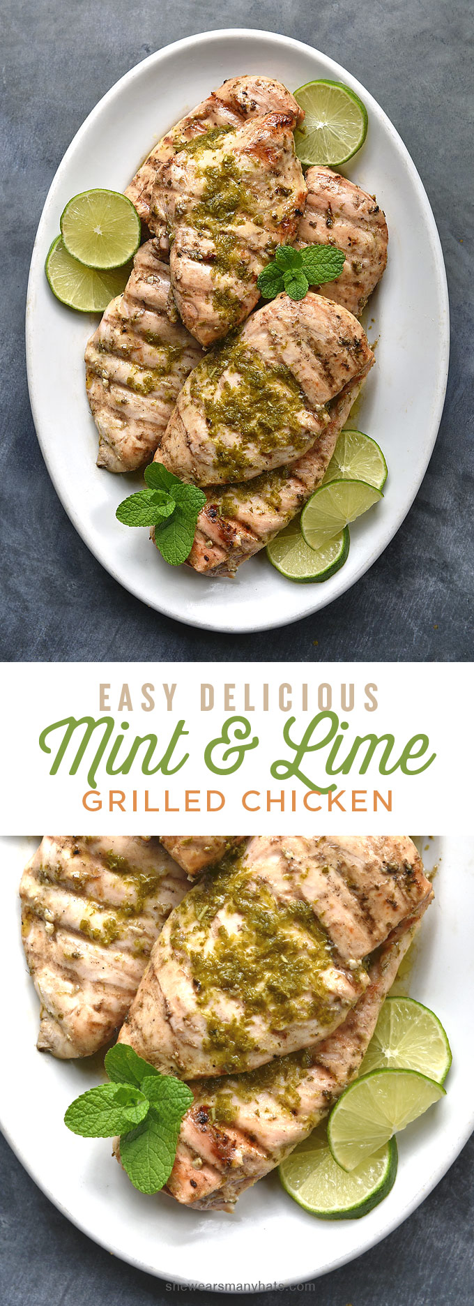 Mint Lime Grilled Chicken Breasts Recipe   shewearsmanyhats.com