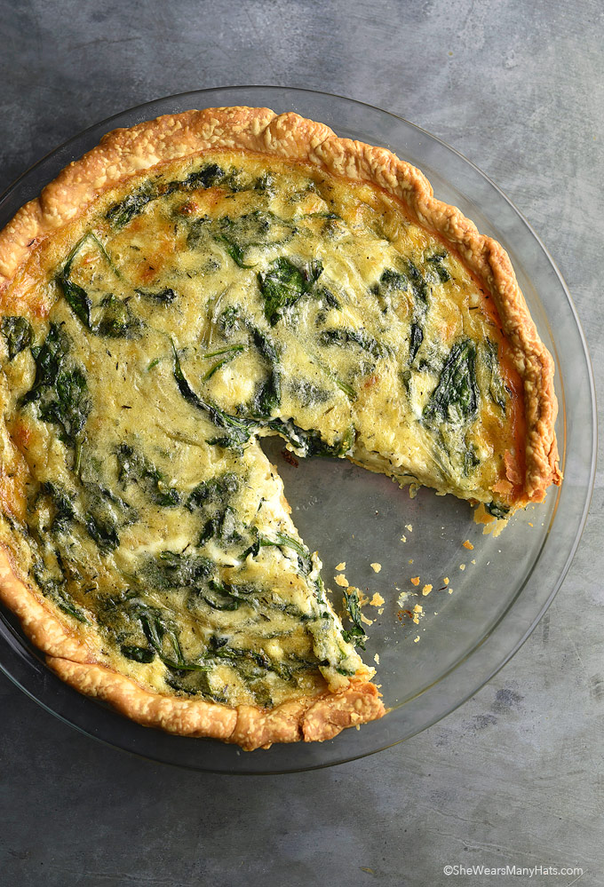 Sauteed Onion Gruyere Spinach Quiche Recipe She Wears Many Hats