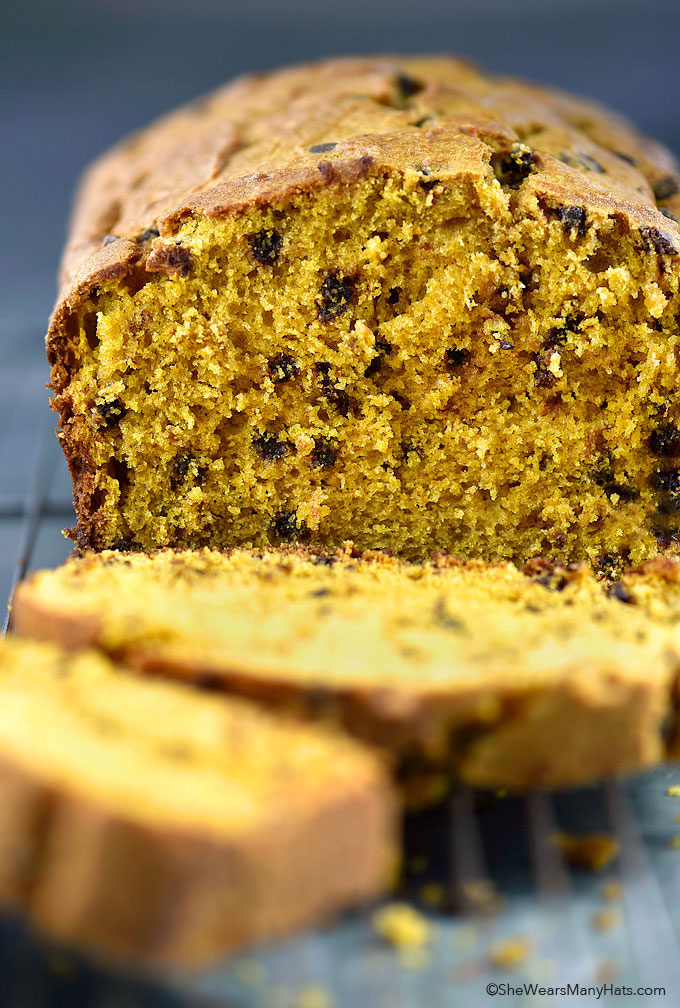 ... chocolate chips, to create this tasty Pumpkin Chocolate Chip Bread