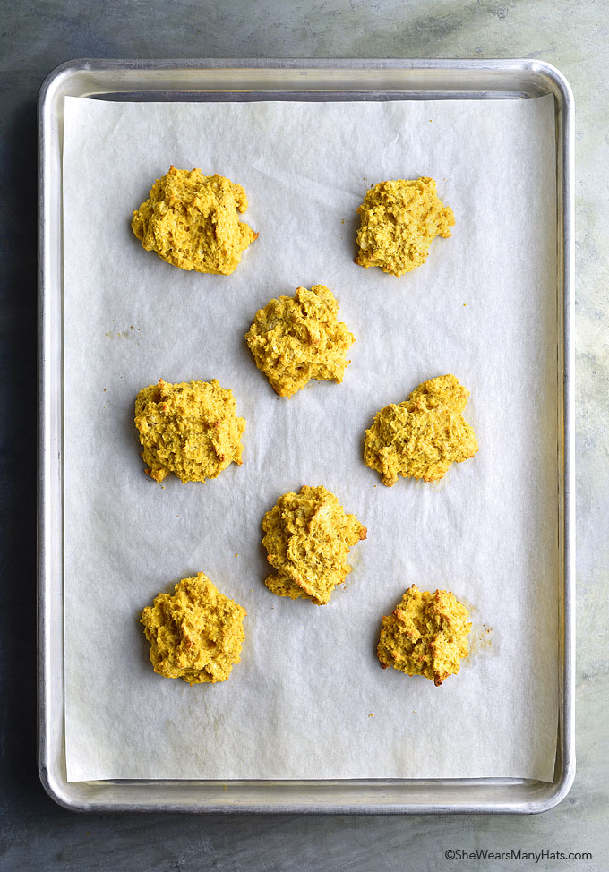 Pumpkin Sage Drop Biscuits Recipe | shewearsmanyhats.com