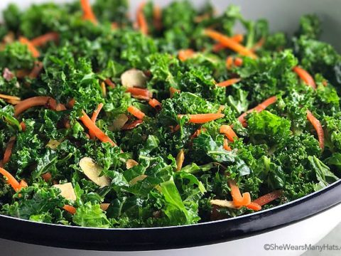 Garlicky Orange Kale Salad