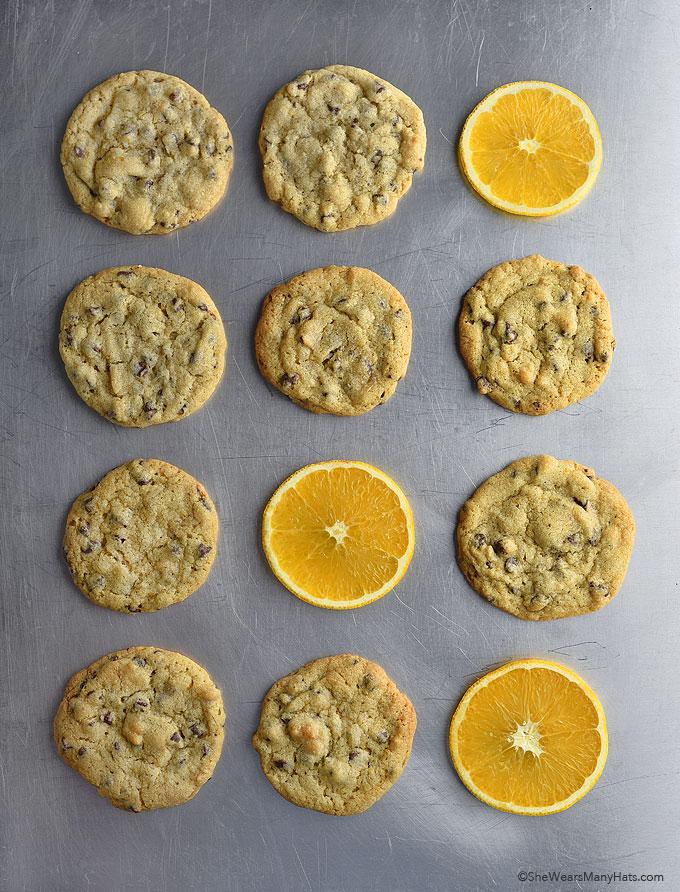 Orange Chocolate Chip Cookies Recipe | shewearsmanyhats.com