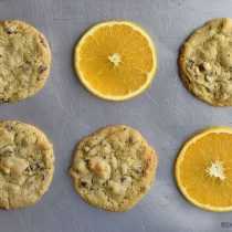 Orange Chocolate Chip Cookies Recipe | shewearsmanyhats.com
