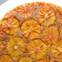 Blood Orange Thyme Upside Down Cake Recipe | shewearsmanyhats.com