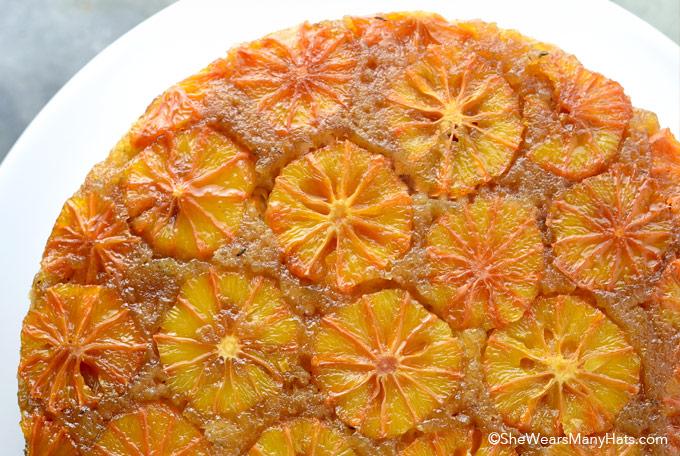 Blood Orange Thyme Upside Down Cake Recipe | shewearsmanyhats.com