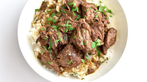 Easy Stew Beef And Rice Recipe She Wears Many Hats