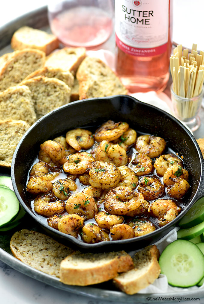 Easy Spicy Shrimp Recipe | shewearsmanyhats.com