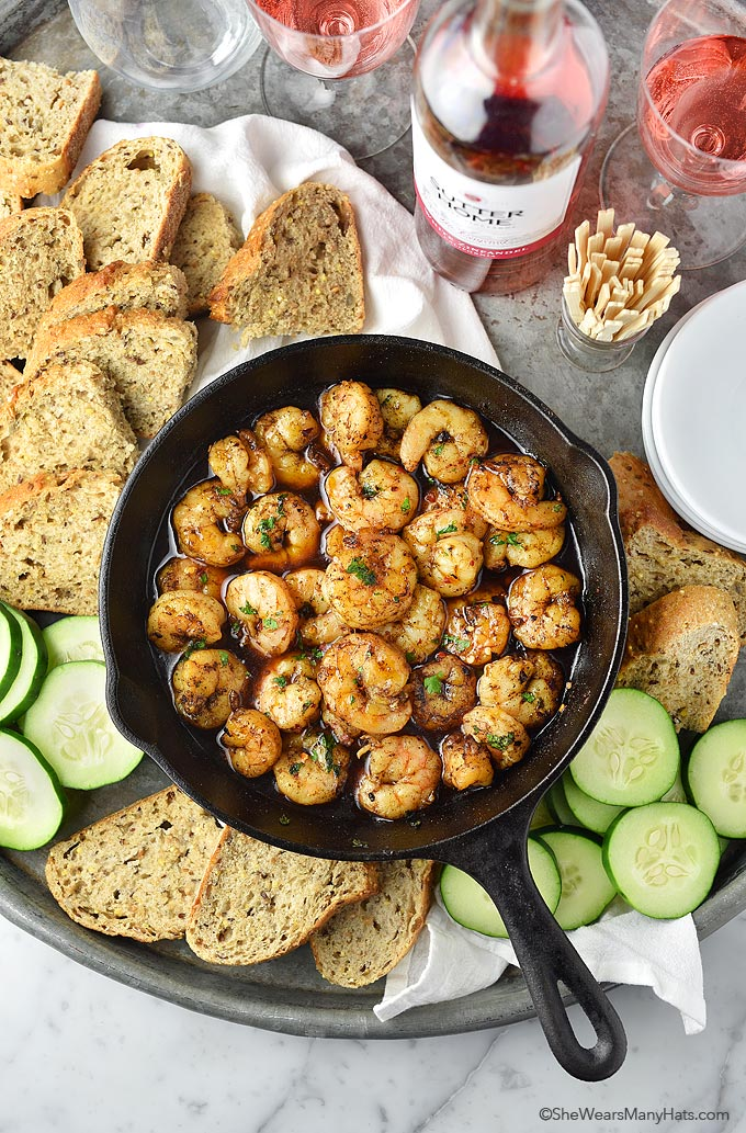 Easy Spicy Shrimp Recipe   shewearsmanyhats.com