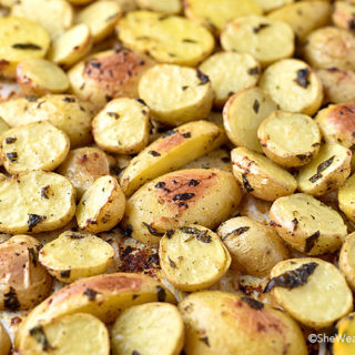 Lemon Garlic Parsley Roasted Potatoes