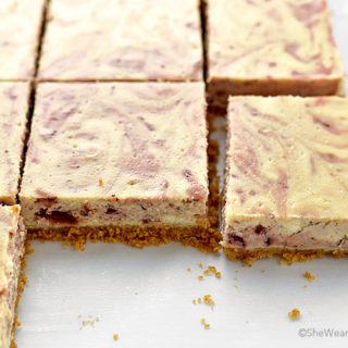 Slow-Roasted Balsamic Strawberry Cheesecake Bars