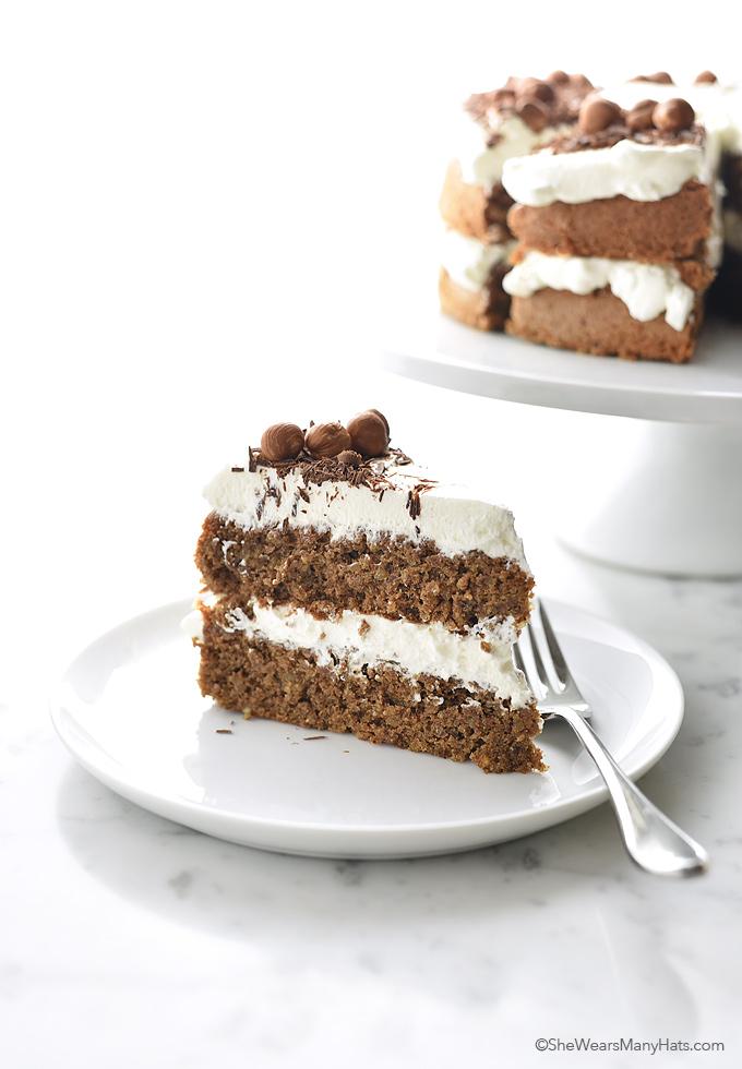 Chocolate Hazelnut TorteRecipe | shewearsmanyhats.com