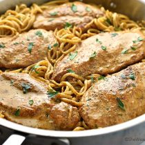 Easy Chicken Lazone Pasta Recipe | shewearsmanyhats.com