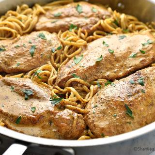 Easy Chicken Lazone Pasta Recipe | shewearsmanyhats.com