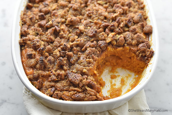 Sweet Potato Casserole Recipe With Pecan Topping She Wears Many Hats