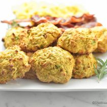 Sweet Potato Cheddar Drop Biscuits Recipe | shewearsmanyhats.com
