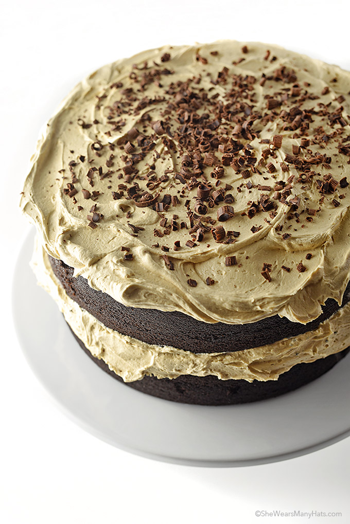 Chocolate Stout Cake Recipe with Espresso Buttercream | shewearsmanyhats.com