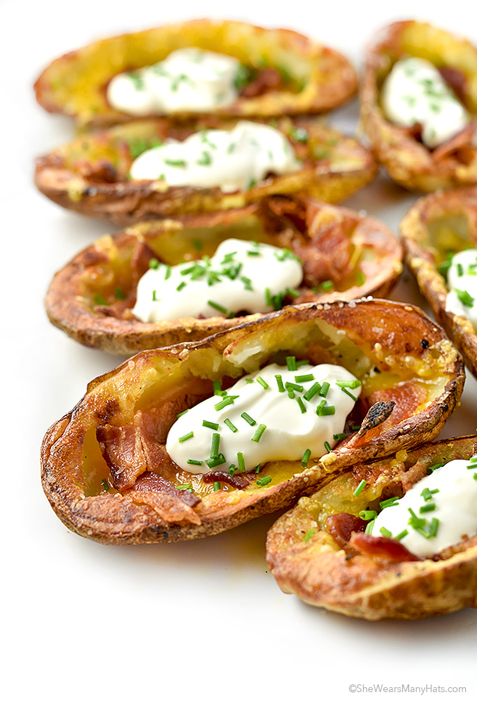 Potato Skins Recipe | shewearsmanyhats.com