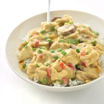 Easy Chicken a la KingRecipe| shewearsmanyhats.com