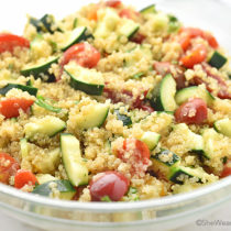 Cucumber and Tomato Quinoa Salad Recipe | shewearsmanyhats.com