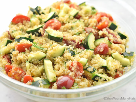 Cucumber And Tomato Quinoa Salad Recipe She Wears Many Hats