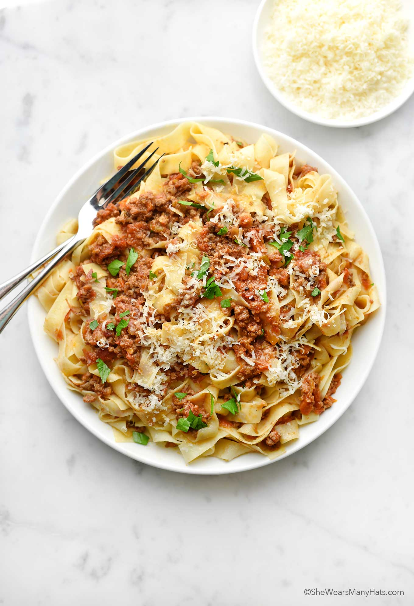 pasta with bolognese sauce recipe photo