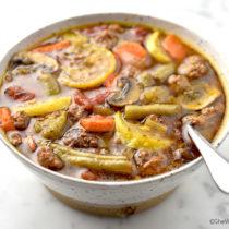 Vegetable Beef Soup Recipe | shewearsmanyhats.com