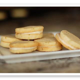 Lime Sandwich Cookies with Coconut Cream Frosting